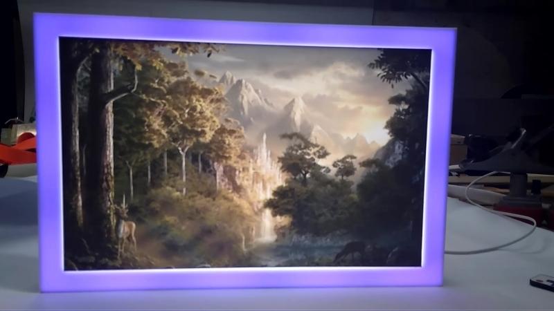Интерьерная реклама - задник аквариума с подсветкой
