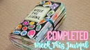 MY COMPLETE WRECK THIS JOURNAL Finished Wreck this Journal Flip Through