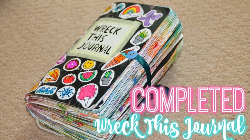 MY COMPLETE WRECK THIS JOURNAL! | Finished Wreck this Journal Flip Through