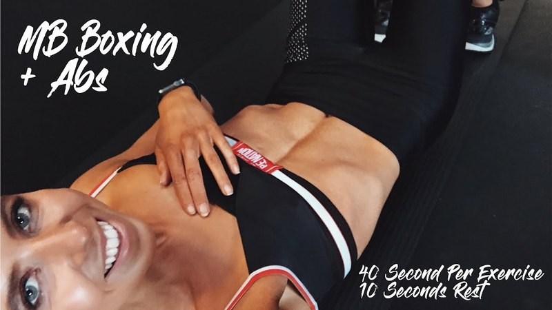 MB BABE IN 40 DAYS - BOXING AT HOME AB BURNING WORKOUT
