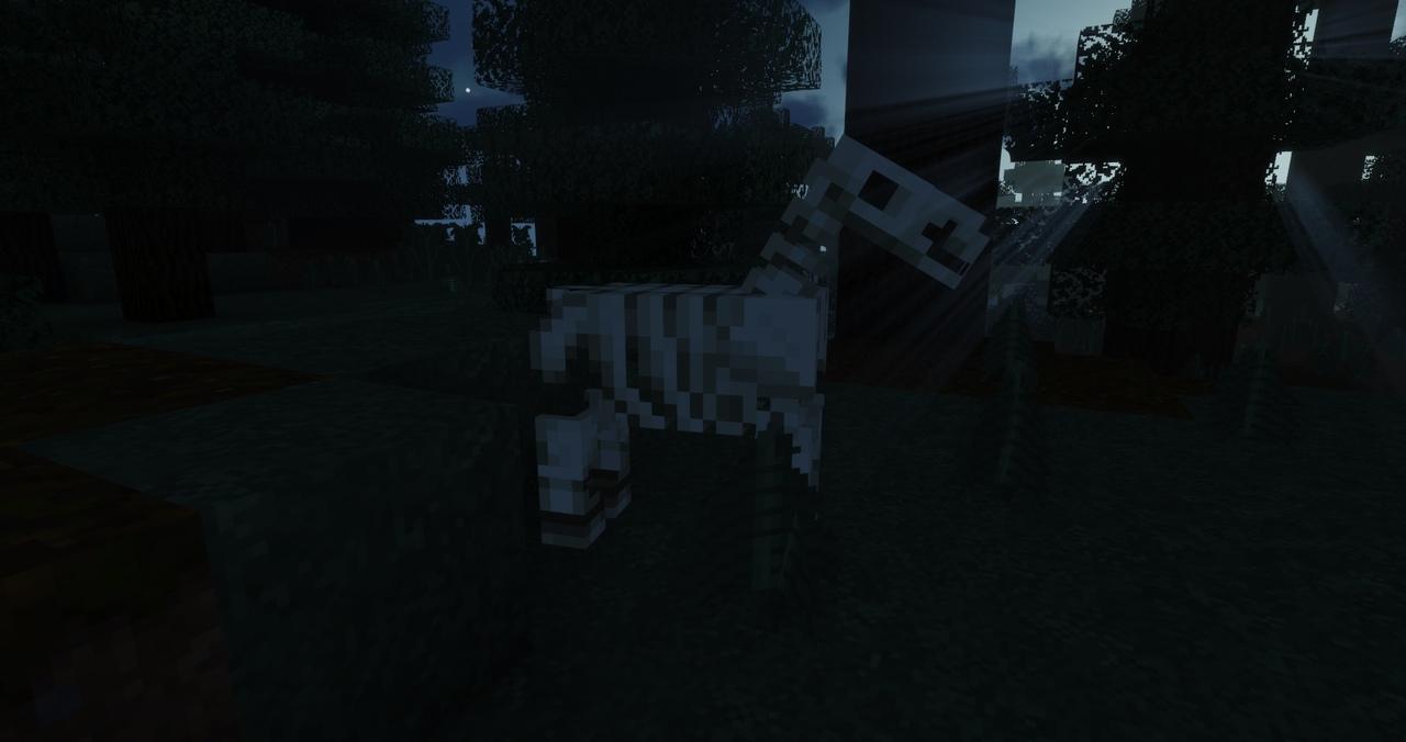 лошадь скелет в Minecraft