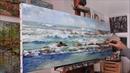 October on the island of Batz, seascape oil painting, by Nathalie JAGUIN
