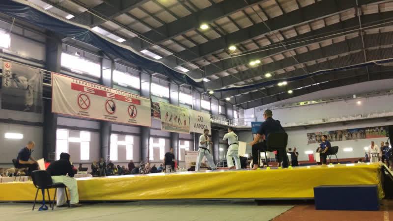 Араслан Джафаров vs Алексей Паулкин Shinkyokushin второй бой Чемпионат России