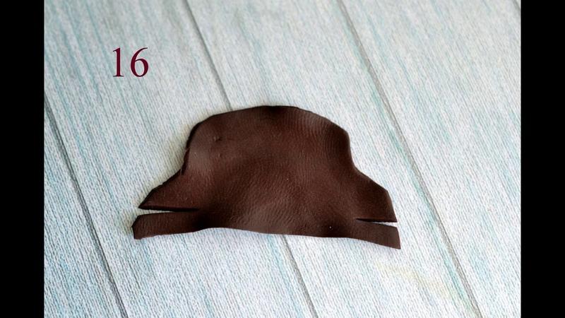Обувь на миниатюру из мастики