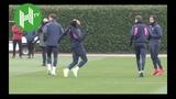 Arsenal v Qarabag I Pierre-Emerick Aubameyang pokes fun at Granit Xhaka diving
