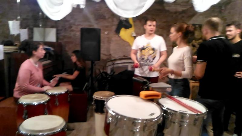 Домашняя вечеренка Prokach Project , перкуссия. 12.08.2018.