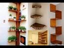 47 Ideias para Construir Prateleiras de Canto Feitas de Madeira
