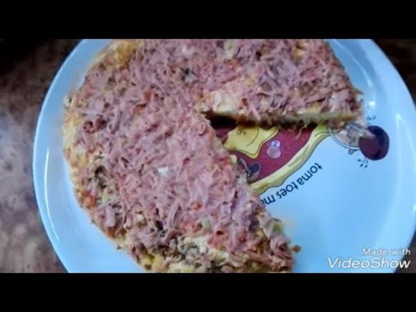 Пицца на сковороде из кабачков без мукиКак же пусто в моем холодильникеМорозилка