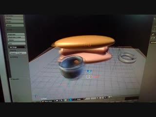 Хот-дог и кружка ,нарисованная в программе Blender