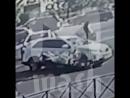 В Москве байкер жестко врезался в авто