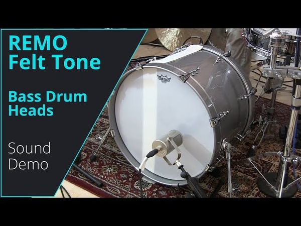 Remo Felt Tone Bassdrum Heads Sound Comparison