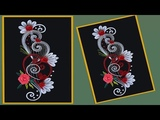 How to make Beautiful Quilling Flower Design Greeting Card Paper Quilling Art