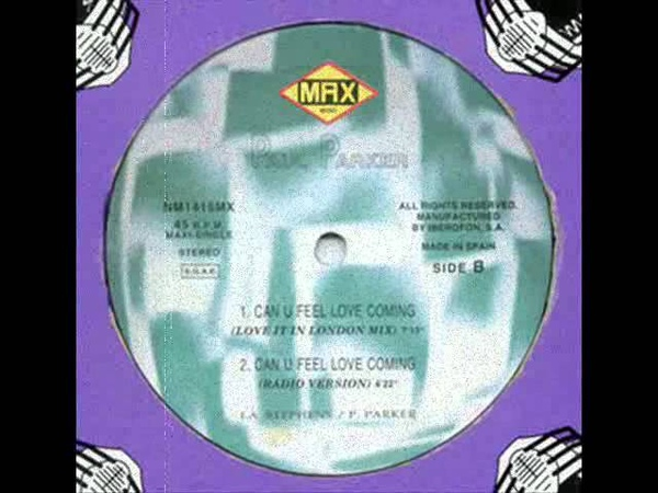PAUL PARKER Can u feel love coming trinity mix 1996