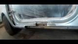 Toyota Funcargo Подгонка ПОРОГА от другого Авто Body repair Пескоструй Покраска