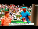 Omg... check this ballkid out as Rafa walks past. BrushWithGreatness Nadal RolandGarros