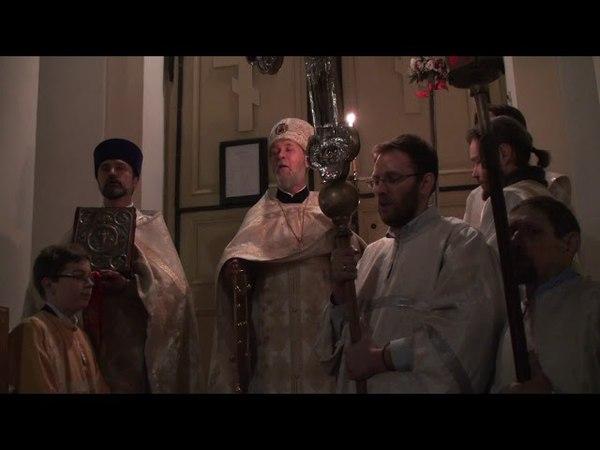 Пасхальная служба в Таллинской Никольской церкви (8 апреля 2018)