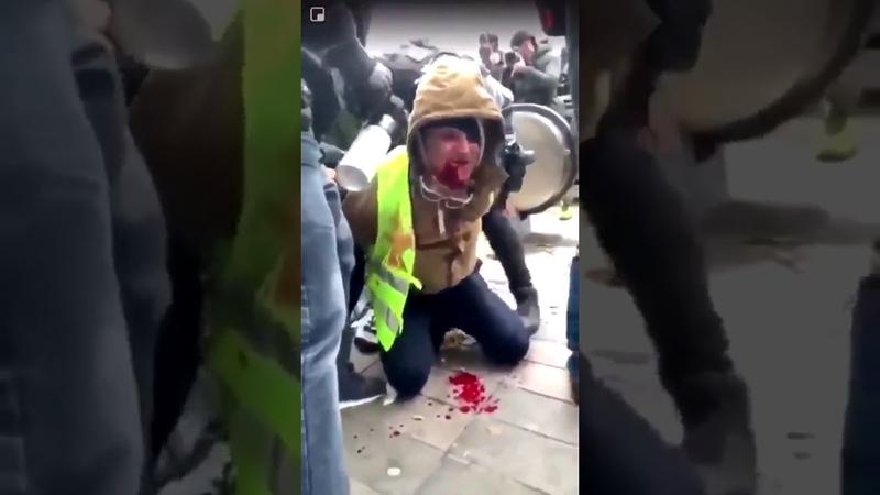 LBD : des membres de la Brigade anti-criminalité (BAC) tirent sur un Gilet jaune