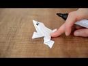 Kağıttan Zıplayan Kurbağa Yapımı Anlatımlı Origami A4 Kağıdı ile