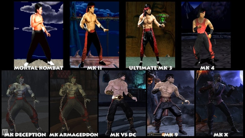 Mortal Kombat LIU KANG Graphic Evolution 1992-2015 | ARCADE PSX PS2 XBOX PC | PC ULTRA