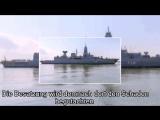 Gleißende Feuerwand- Rohrkrepierer an Bord der Sachsen