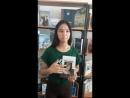 Жастар таңдайды - Молодежь предпочитает атты жобасына қатысушы Абызбкова Нұрайлым жастарды кітап оқуға шақырады