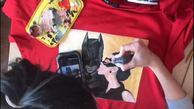 Всеми любимые Бэтмен и Женщина кошка 😍🎨🎨🎨
