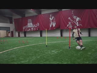9 simple football_soccer exercises to improve - passing - receiving - speed and agility