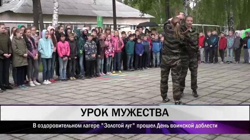 В оздоровительном лагере Золотой луг прошел День воинской доблести (МАУ Тагил-ТВ)