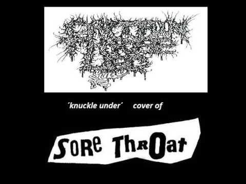 CAPTAIN THREE LEG (usa) ´knuckle under´ SORE THROAT cover