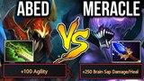 +100 AGI Nyx Carry vs 550 Brain Sap Bane - Abed vs Meracle Dota2