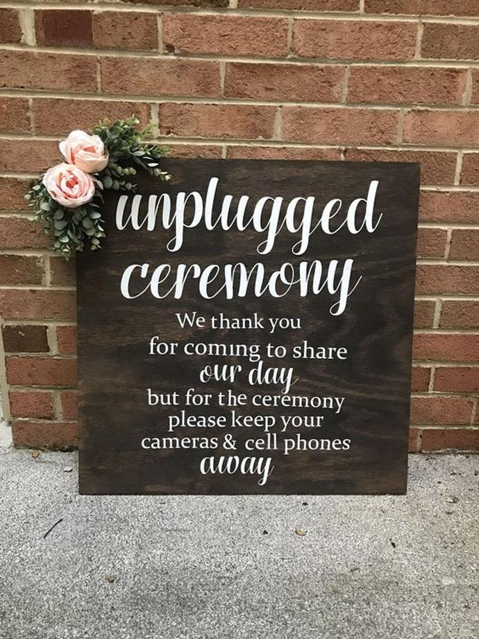 декоративная табличка для свадьбы