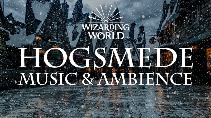 Harry Potter Music Ambience | Relaxing Music, Crowd Noise, and Snow.