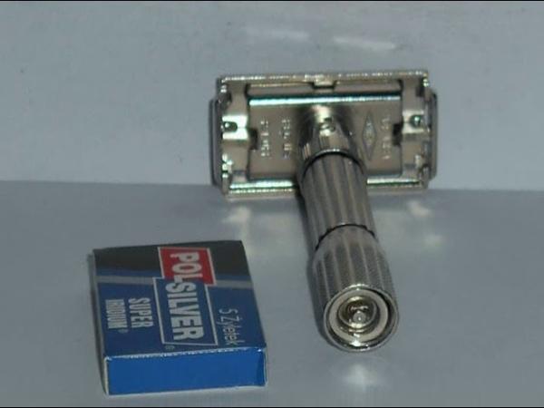 1961 Gillette Fat Boy Refurbished Nickel Re Plated Razor G2–1B