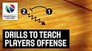 Drills to Teach Players Offense - Ettore Messina - Basketball Fundamentals