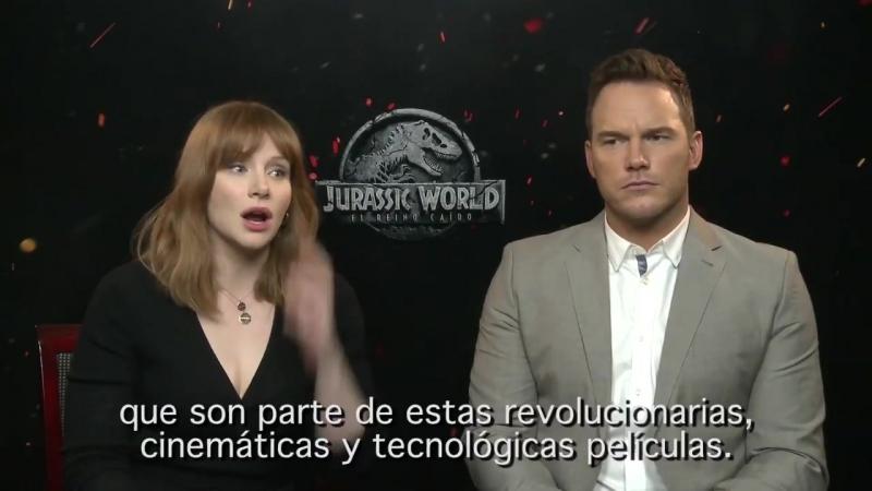 Chris Pratt y Bryce Dallas Howard nos hablan de 'Jurassic World_ El reino caído' _ FOTOGRAMAS
