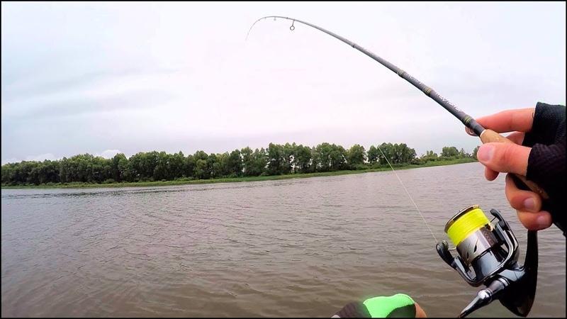 Рыбалка в октябре. На спиннинг. Поймал рыбу с первого заброса и ПОПЁРЛО