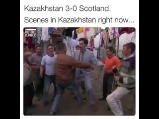 Kazakhstan 3-0 scotland! scenes in kazakhstan right now...