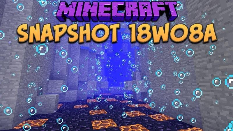 Minecraft 1.13 Snapshot 18w08a Underwater Ravines Ocean Biomes (Update Aquatic)
