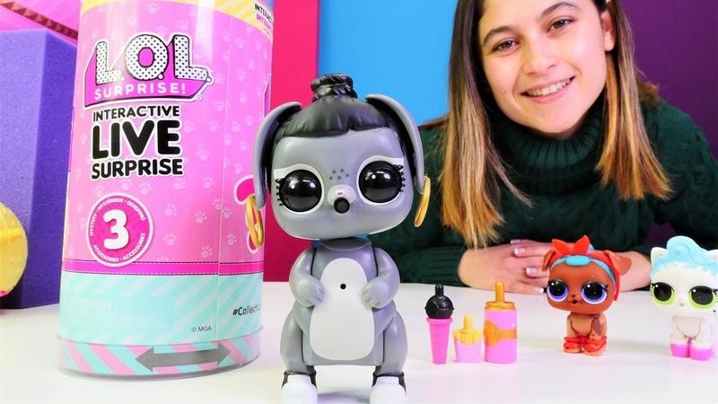 Çocuk videosu. LOL oyuncakları interactive live serisi.