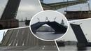 Развод и сведение мостов в Санкт Петербурге днем