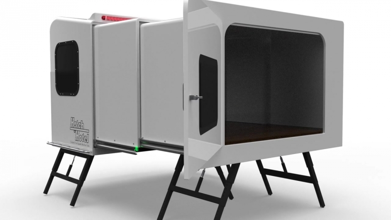 Hitch Hotel™ - Worlds First Expandable, Wheel-less trailer