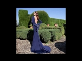 Синие вечерние платья.