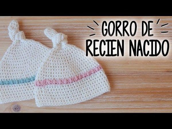 Gorro para BEBE RECIEN NACIDO a crochet | Tutorial PASO A PASO | Ahuyama Crochet