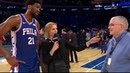 Joel Embiid On Crashing Into Front Row Facing Mitchell Robinson | New York Knicks Post Game