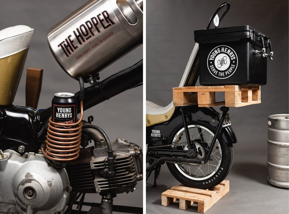 Rising Sun Workshop & Young Henrys: чоппер Hopper на базе Honda CT110