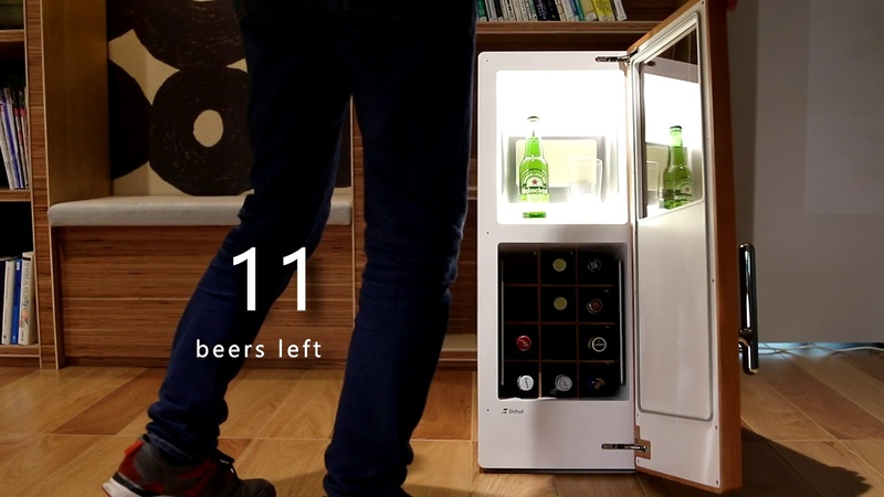DrinkShift - Our fridge automatically refills your beer, so you never run out again.