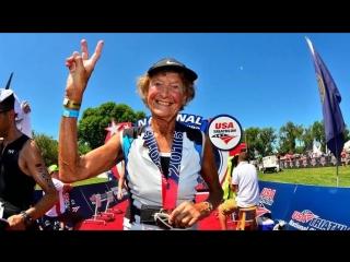 Мадонна Бадер - 82 года 340 триатлонов (БЕГ RUN https://vk.com/runrunning)
