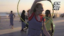 Old lady's hula hooping rollerskating tricks put young pups to shame