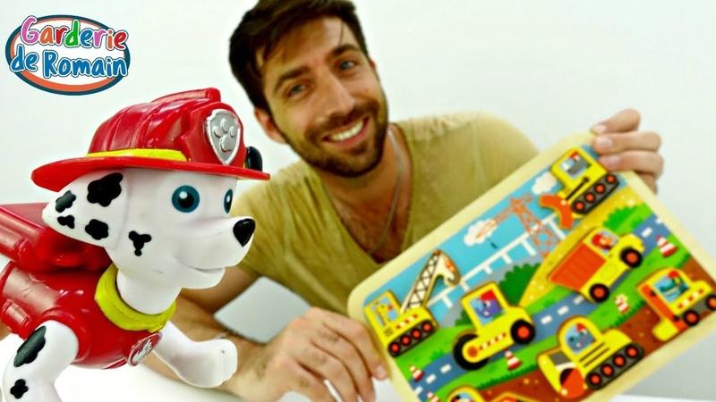 Vidéo pour enfants de la Garderie de Romain: Pat Patrouille et puzzle
