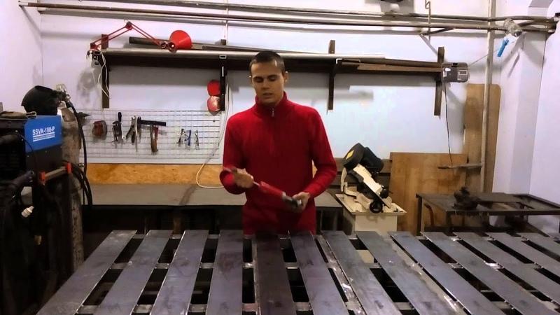 Сварочный стол Изготовление своими руками Хороший вариант для сварочной мастерской